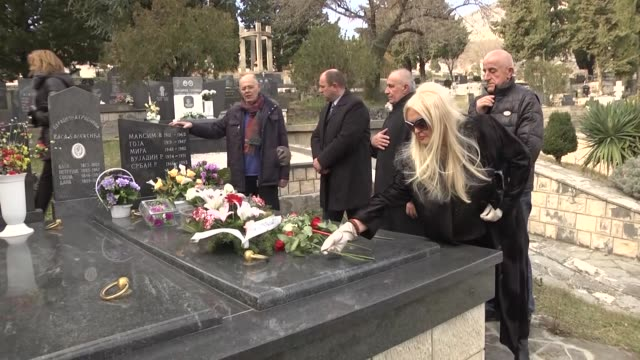 Srđan Aleksić who saved his Bosnian neighbour from Serbian death squad was commemorated at his grave on 24th year of his killing in Trebinje Bosnia...