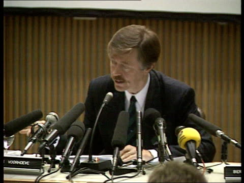 dutch government report clears troops itn netherlands the hague voorhoeve pkf sot document null and void and incorrect - srebrenica stock videos and b-roll footage