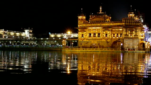 sri harmandir sahib gurdwara called golden temple in punjab, india - punjab india stock videos and b-roll footage