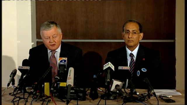 sri lanka cricket team injured in terrorist attack in pakistan press conference with icc president and chief executive morgan press conference sot... - cricket team stock videos and b-roll footage