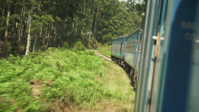 sri lanka famous and iconic train to ella - british culture stock videos & royalty-free footage