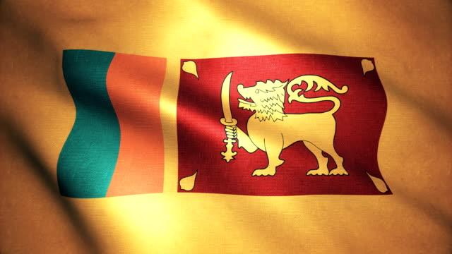 sri lanka flag 4k - sri lankan flag stock videos & royalty-free footage