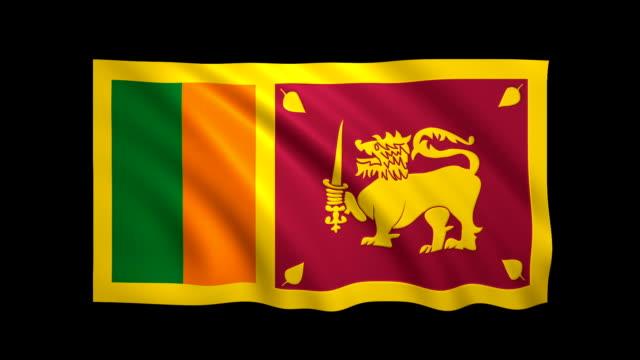 stockvideo's en b-roll-footage met sri lanka vlag loopable mat inbegrepen-stock video - sri lankaanse cultuur