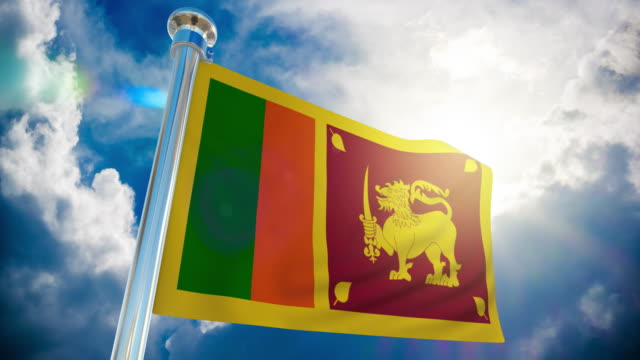 4k sri lanka flag - loopable stock video - sri lankan flag stock videos & royalty-free footage