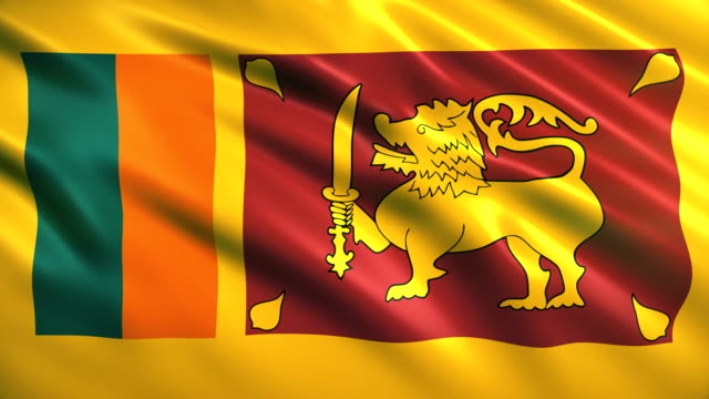 sri lanka flag - sri lankan culture stock videos & royalty-free footage