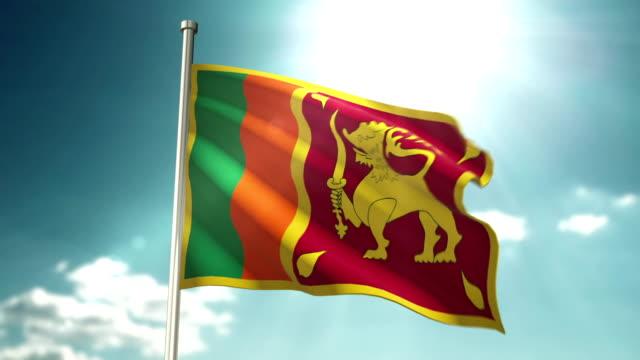 4k sri lanka flag - sri lankan flag stock videos & royalty-free footage