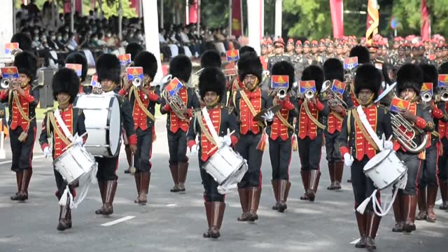 sri lanka marks its 73rd anniversary of independence from britain with a military parade through capital colombo - sri lanka stock videos & royalty-free footage