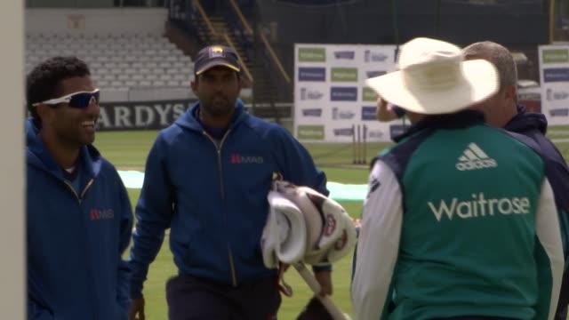 Sri Lankan batsman Kaushal Silva interview / England net practice prior to England vs Sri Lanka test match ENGLAND Leeds Headingley EXT Setups Trevor...