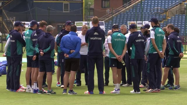 Sri Lankan batsman Kaushal Silva interview / England net practice prior to England vs Sri Lanka test match Various shots of England cricketers team...