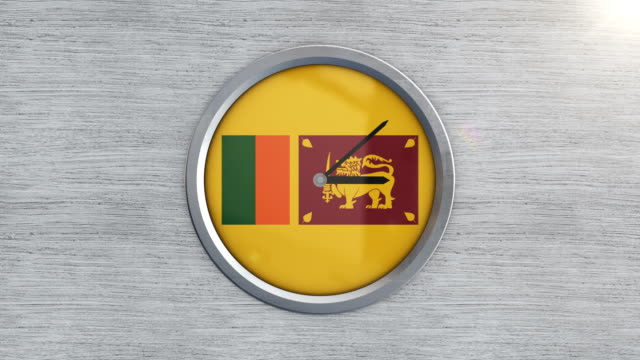 sri lankan flag clock timelapse - sri lankan flag stock videos & royalty-free footage