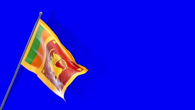 sri lankan flag rising - sri lankan flag stock videos & royalty-free footage