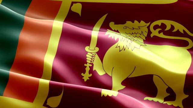 sri lankan flag - sri lankan flag stock videos & royalty-free footage