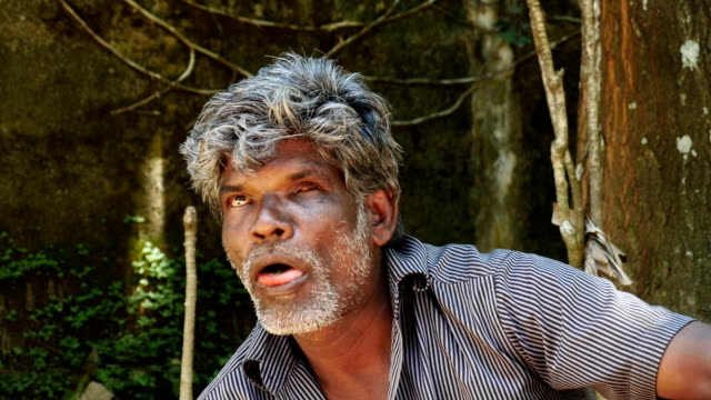 sri lankan man chewing paan - blindness stock videos & royalty-free footage