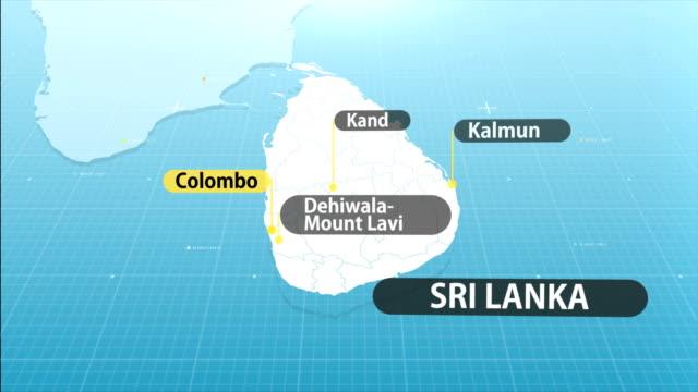 sri lankan map - sri lankan flag stock videos & royalty-free footage