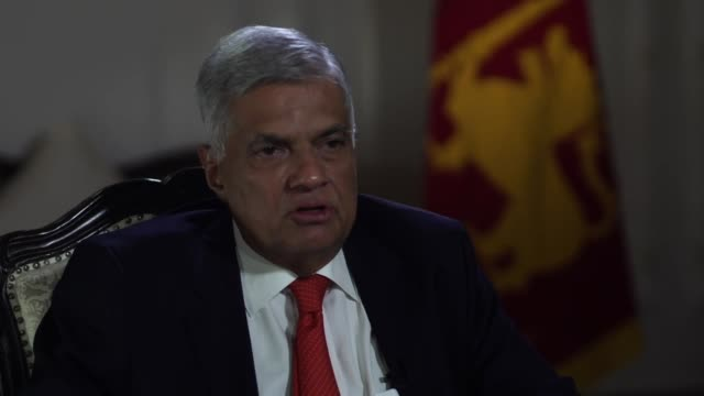 sri lankan prime minister ranil wickremesinghe describing his first meeting with the defence ministry after the sri lanka terror attacks - sri lankan flag stock videos & royalty-free footage