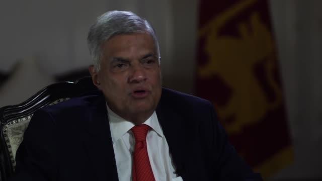 sri lankan prime minister ranil wickremesinghe describing his reaction when he first heard about the sri lanka terror attacks - sri lankan flag stock videos & royalty-free footage