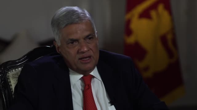 sri lankan prime minister ranil wickremesinghe responding to accusations he has shown a lack of empathy in the aftermath of the sri lanka terror... - sri lankan flag stock videos & royalty-free footage