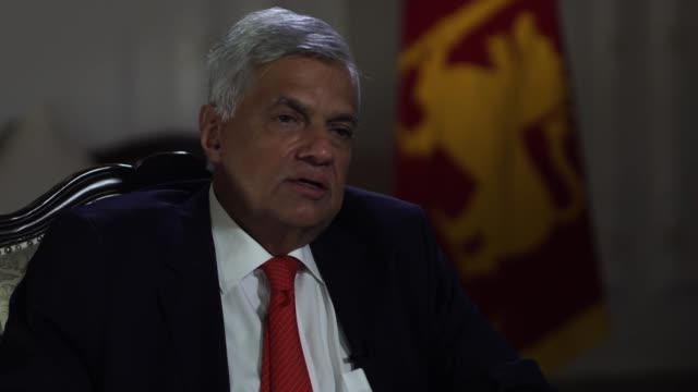 sri lankan prime minister ranil wickremesinghe saying he has visited some of the sites of the sri lanka terror attacks but wanted to be respectful to... - sri lankan flag stock videos & royalty-free footage