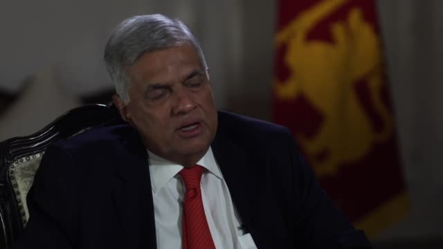 sri lankan prime minister ranil wickremesinghe saying he is satisfied he has done his job despite accusations he has shown a lack of empathy in the... - sri lankan flag stock videos & royalty-free footage