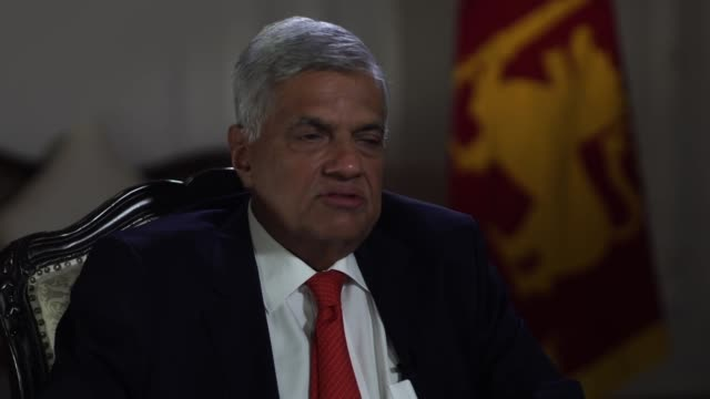 sri lankan prime minister ranil wickremesinghe saying he thought about resigning after the sri lanka terror attacks but didn't as he wasn't aware of... - sri lankan flag stock videos & royalty-free footage