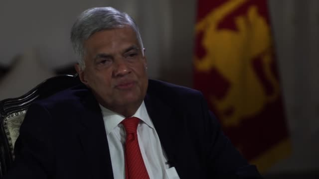 sri lankan prime minister ranil wickremesinghe saying he wants to know why the system was paralysed in responding to intelligence about the sri lanka... - sri lankan flag stock videos & royalty-free footage