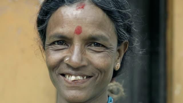 sri lankan woman portrait - sri lanka people stock videos & royalty-free footage