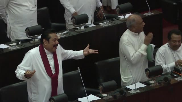 sri lanka's parliament is adjourned after just five minutes after opening for the first time since mps brawled and threw objects at each other last... - five objects stock videos & royalty-free footage