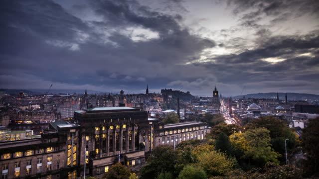 st. andrew's house, edinburgh, scotland - time lapse - uk politics stock videos & royalty-free footage