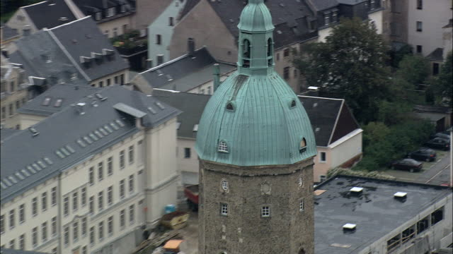 St Anne's Church In Annaberg-Buchholz  - Aerial View - Saxony,  Germany