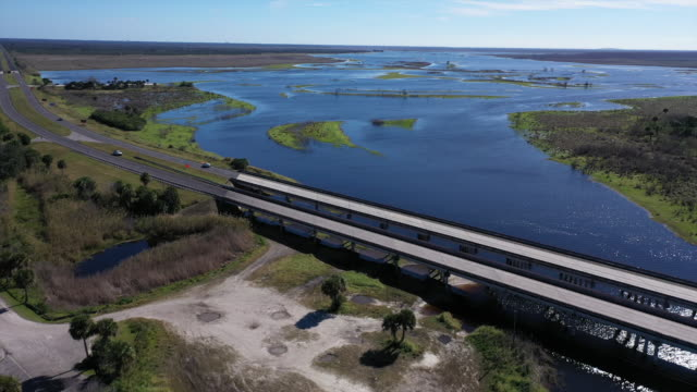 st. augustine, fl, u.s. - aerials of alligators wildlife territories, on monday, january 6, 2020. - named wilderness area stock videos & royalty-free footage