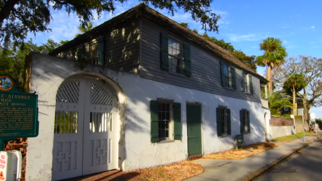 St Augustine Florida oldest city in nation the oldest house Gonzalez-Alverez House in 1650 on St Farmers Street 4K,