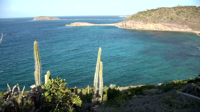 st barth beautiful view of the beach - french overseas territory stock videos & royalty-free footage