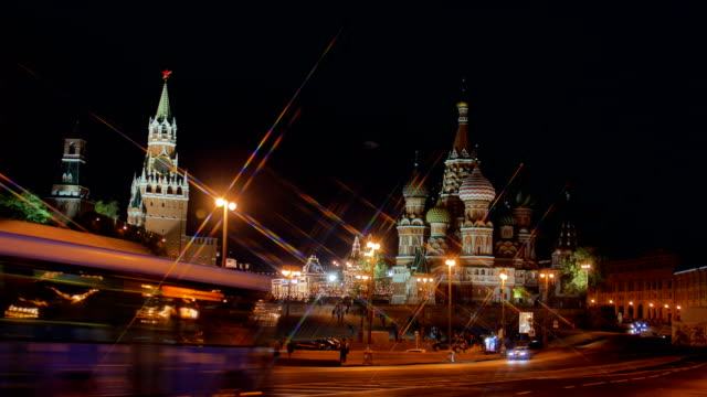 st basil cathedral and moscow kremlin. - st. basil's cathedral stock videos and b-roll footage