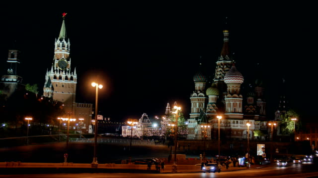 St Basil cathedral and Moscow Kremlin.