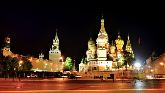 st. basil cathedral, moscow kremlin - red square stock videos & royalty-free footage