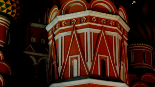 st basils cathedral at night - st. basil's cathedral stock videos and b-roll footage