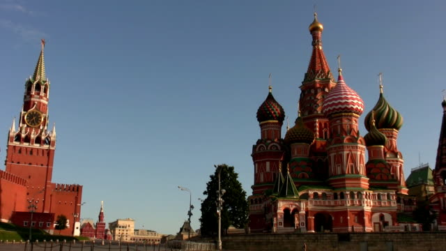 st. basil's cathedral in moscow - st. basil's cathedral stock videos and b-roll footage