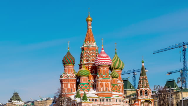 st. basil's cathedral in winter hyperlapse - st. basil's cathedral stock videos and b-roll footage
