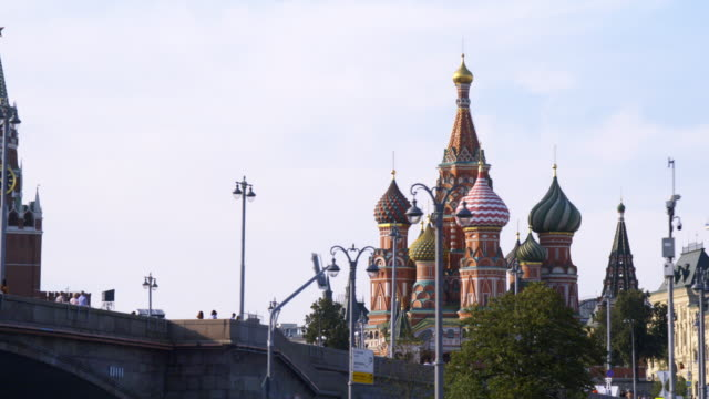 st. basil's cathedral - moscow russia stock videos & royalty-free footage