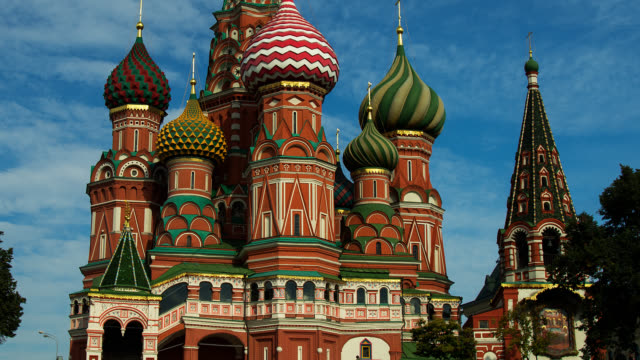 t/l st. basil's cathedral - moscow russia stock videos & royalty-free footage