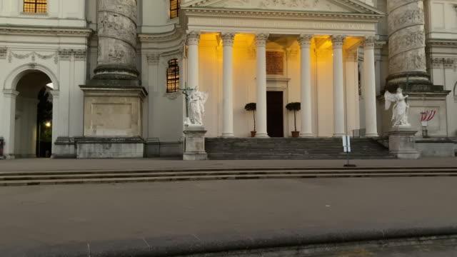聖チャールズ教会ウィーン 夜 - カールスプラッツ点の映像素材/bロール