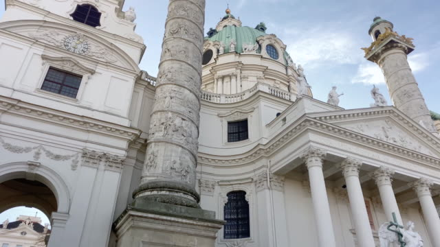 st. charles church vienna - traditionally austrian stock videos & royalty-free footage