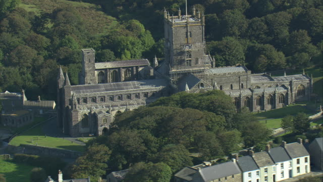 st david's and cathedral - pembrokeshire stock videos and b-roll footage