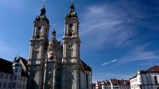 st gallen-schweiz - kathedrale stock-videos und b-roll-filmmaterial