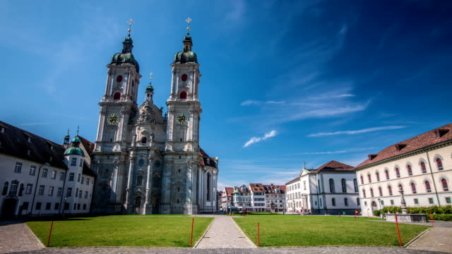 zeitraffer: st gallen - kathedrale stock-videos und b-roll-filmmaterial