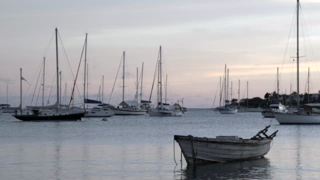 st george's bay at dusk / greanda, carribbean - anchored stock videos & royalty-free footage