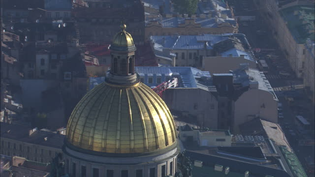 st. isaac's cathedral is seen from the air. - cathedral stock videos & royalty-free footage