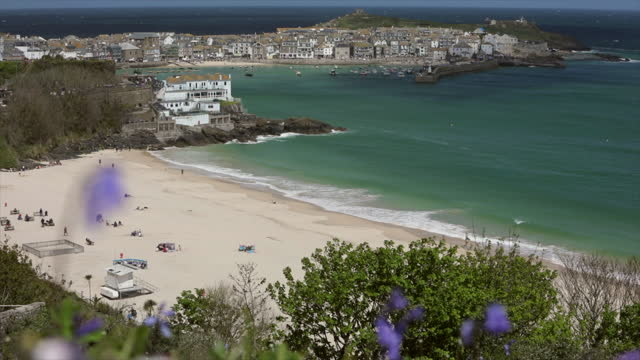 st ives, cornwall, united kingdom - small boat stock videos & royalty-free footage