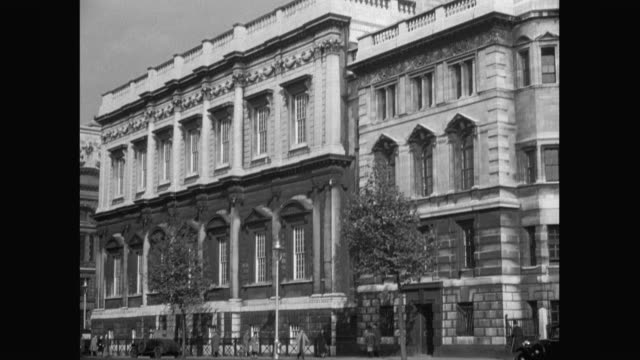 1936 - st james' palace, whitehall - 1936 stock videos & royalty-free footage