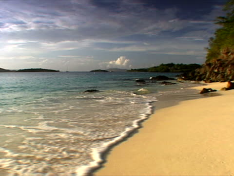 st. john: a perfect day at honeymoon beach - artbeats stock videos & royalty-free footage